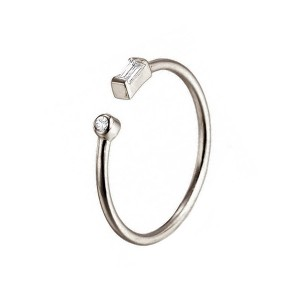 Silver delicate open ring