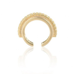Silver circle ear cuff earring E-H2050