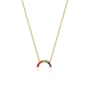 Silver rainbow pendant necklace