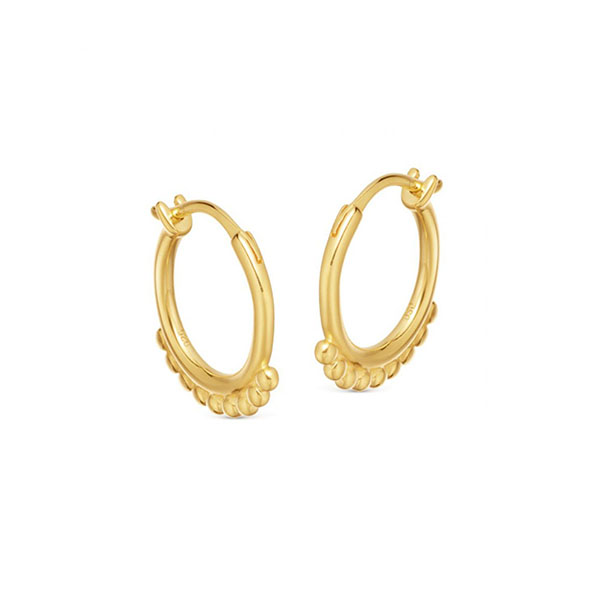 Silver beaded hinged hoop earring E-H1050 Featured Image