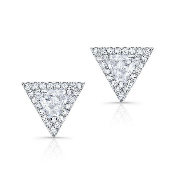 Silver triangle earring stud Featured Image