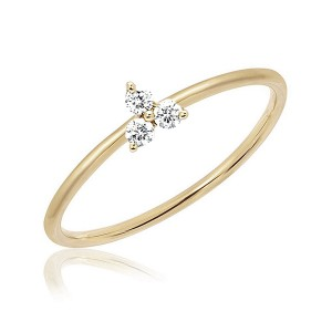 Silver trio CZ stack ring