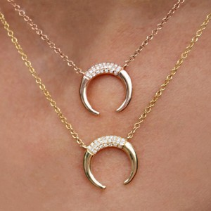 SILVER CRESCENT HORN NECKLACE  $7.20