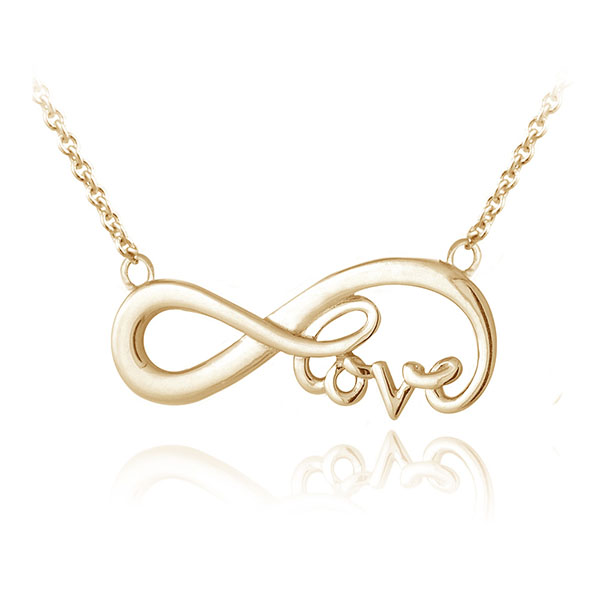 SILVER INFINITY LOVE NECKLACE  $6.90 Featured Image