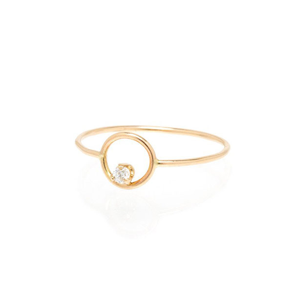 Silver circle prong CZ ring Featured Image