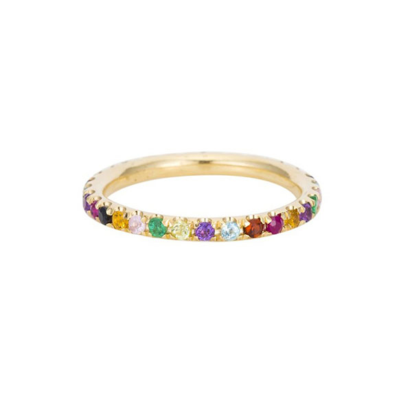 SILVER RAINBOW CZ ETERNITY RING  $4.40 Featured Image