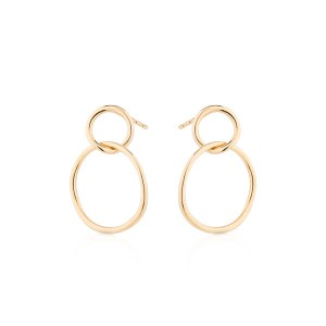 SILVER DOUBLE CIRCLE EARRING  $8.20