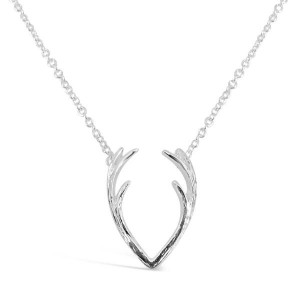 Wholesale OEM Resin Flower Pearl Necklace - Silver antler pendant necklace  N-E1302 – Gemnel Jewelry