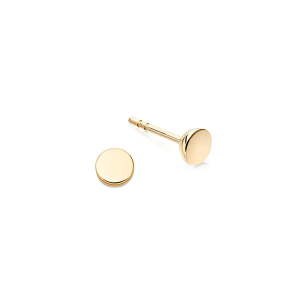 Silver mini circle stud earring Featured Image