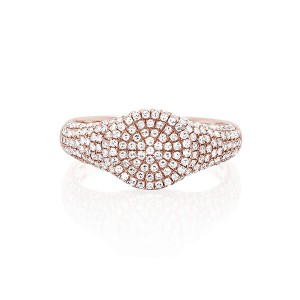 Silver Pave ring CZ signet