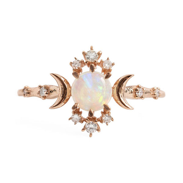 Silver flower opal ring R-F1004 Featured Image