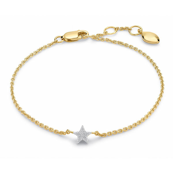 Silver pave star bracelet B-R1222 Featured Image