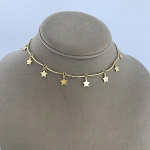 Silver super star choker