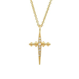 SILVER CZ CROSS NECKLACE  $7.20