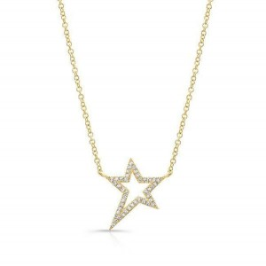 Silver lucky star pendant necklace