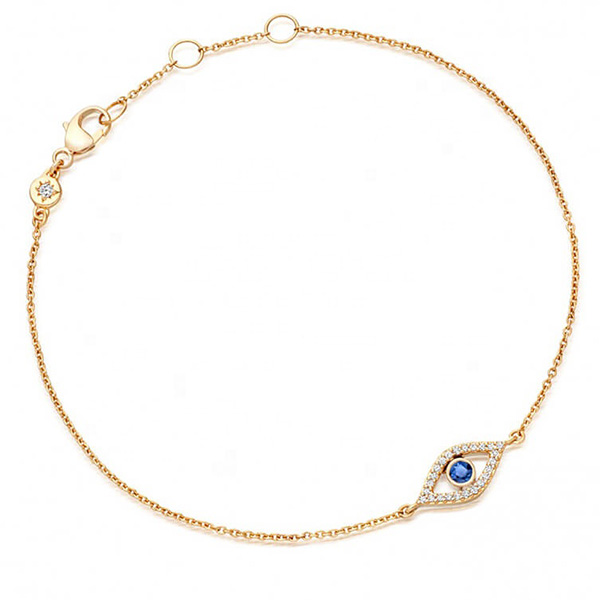 SILVER EYE BRACELET WITH SAPPHIRE ZIRCON $6.10 Featured Image