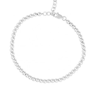 SILVER DAILY WEAR JEWELRY BEAD BRACELET  $10.00