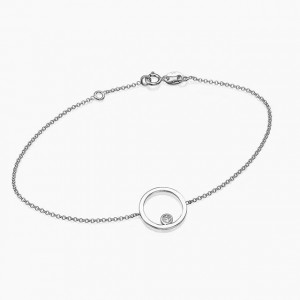 SILVER CIRCLE PRONG SET CZ BRACELET  $5.90