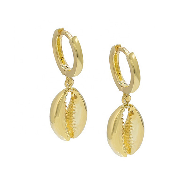 SILVER COWRIE SHELL EARRINGS $6.60 Featured Image
