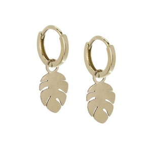 SILVER DANGLE HUGGIES CHARM HOOP EARRINGS $6.8