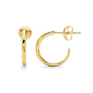 SILVER HORN HOOP CRESCENT EARRINGS $4.70