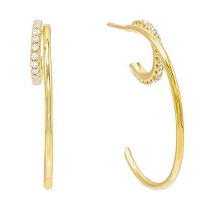 SILVER HIGH QUALITY GOLD HOOP EARRINGS $6.40