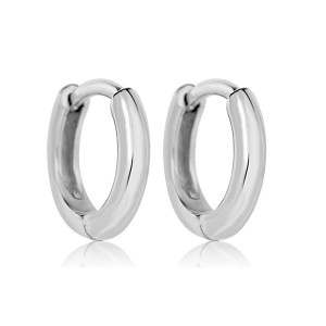 SILVER SMALL GOLD HUGGIE HOOPS $3.80