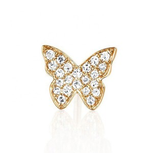 SILVER JEWELRY DIAMOND BUTTERFLY EARRGINS $3.90