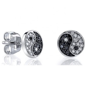 CHINESE TAI CHI JEWELRY YIN YANG EARRINGS $5.80