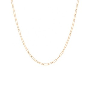 SILVER RECTANGLE PAPERCLIP CHAIN NECKLACE  $4.80