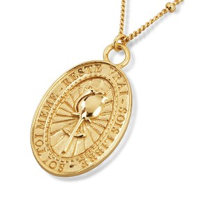 SATELLITE CHAIN ROSE MEDALLION COIN NECKLACE  $8.50