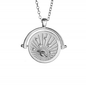 SILVER MEDALLION SATURN COIN NECKLACE  $7.90