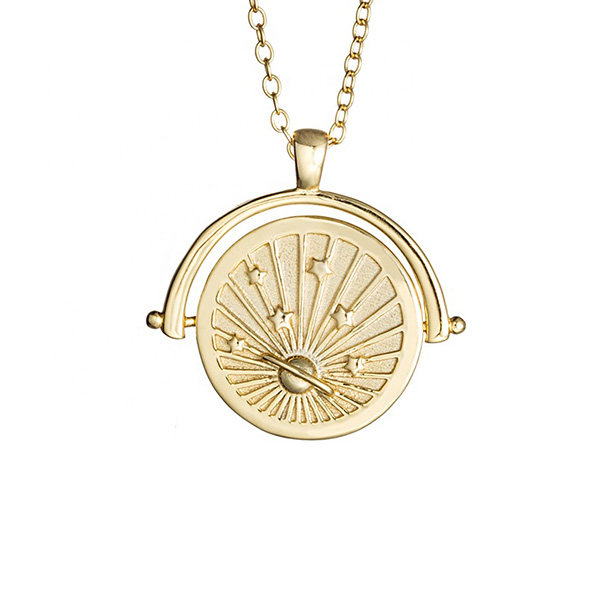SILVER MEDALLION SATURN COIN NECKLACE  $7.90 Featured Image