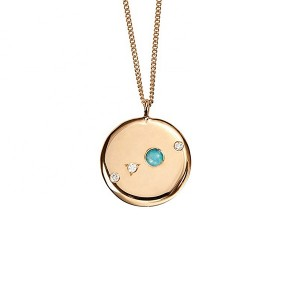 SILVER OPAL DIAMOND COIN NECKLACE  $7.90