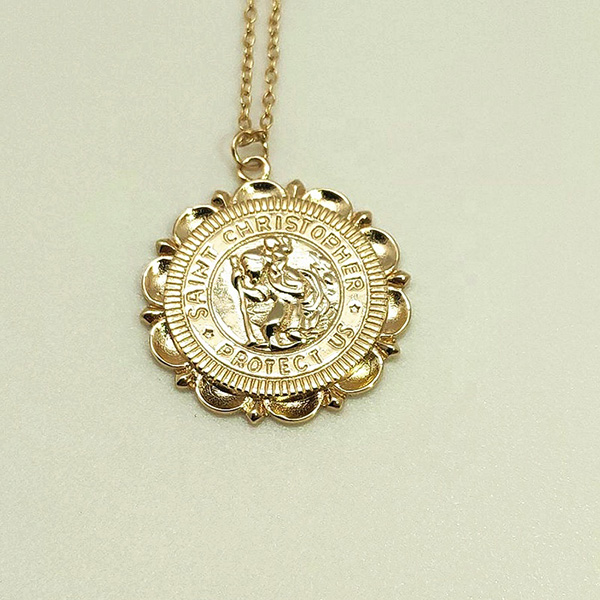 PROTECTION MEDALLION ST. CHRISTOPHER RELIGIOUS NECKLACE  $9.10 Featured Image