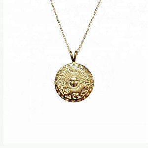 SILVER RISING SUN MEDALLION NECKLACE  $8.90