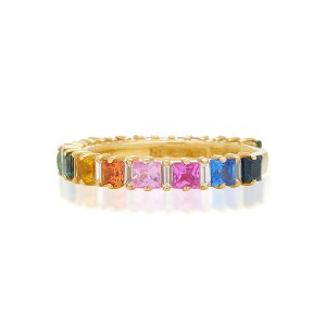 SILVER ETERNITY ZIRCON RAINBOW RING  $6.70