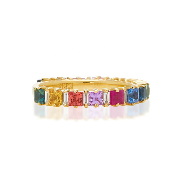 SILVER ETERNITY ZIRCON RAINBOW RING  $6.70 Featured Image