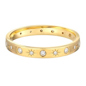 SILVER STARBURST BAND RING  $5.60