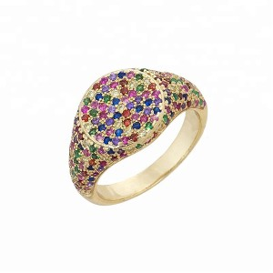 SILVER RAINBOW SIGNET RING  $9.50