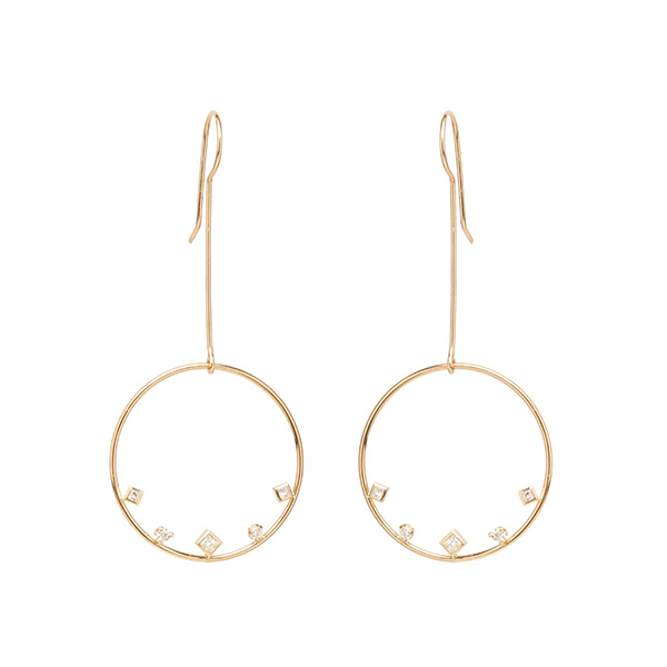 Silver big circle wire earring Featured Image