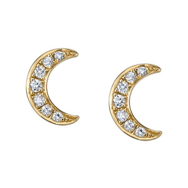 Silver moon stud earring Featured Image
