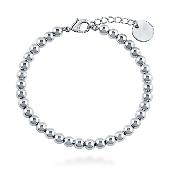 SILVER BEADED BRACELET  $10.40 Featured Image