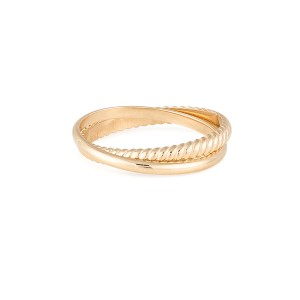 SILVER SLEEK TWIST DOUBLE RING  $6.60