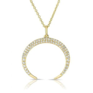 SILVER CRESCENT PENDANT NECKLACE  $9.70